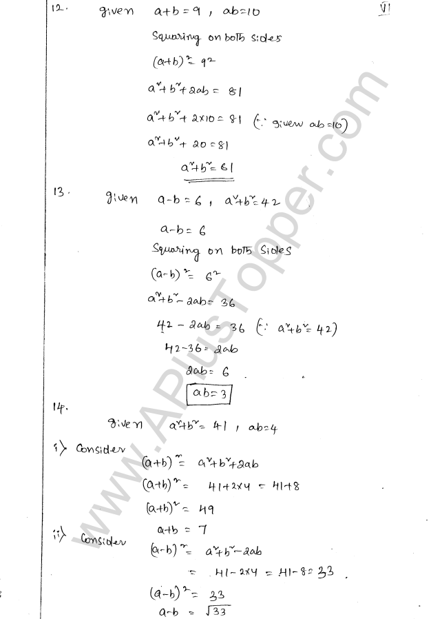 ML Aggarwal ICSE Solutions for Class 8 Maths Chapter 10 Algebraic Expressions and Identities 36
