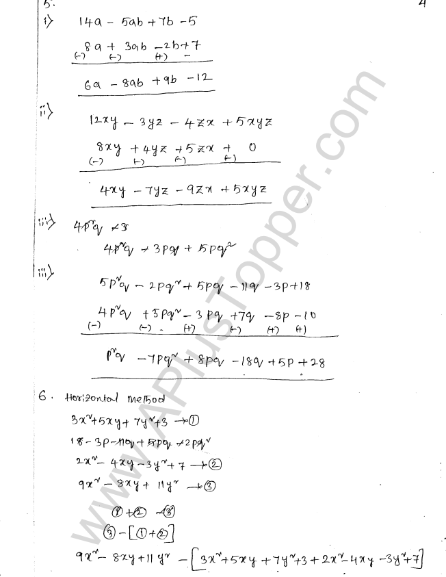 ML Aggarwal ICSE Solutions for Class 8 Maths Chapter 10 Algebraic Expressions and Identities 4