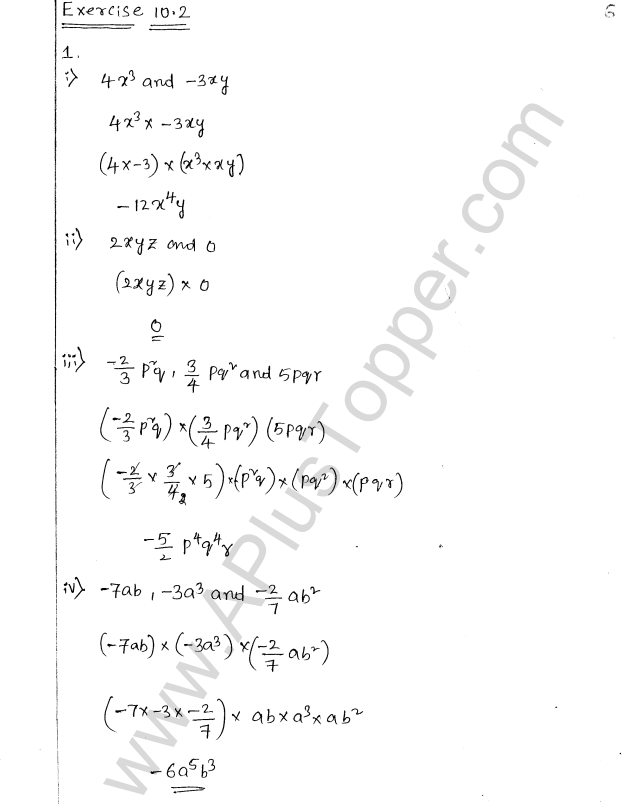 ML Aggarwal ICSE Solutions for Class 8 Maths Chapter 10 Algebraic Expressions and Identities 6