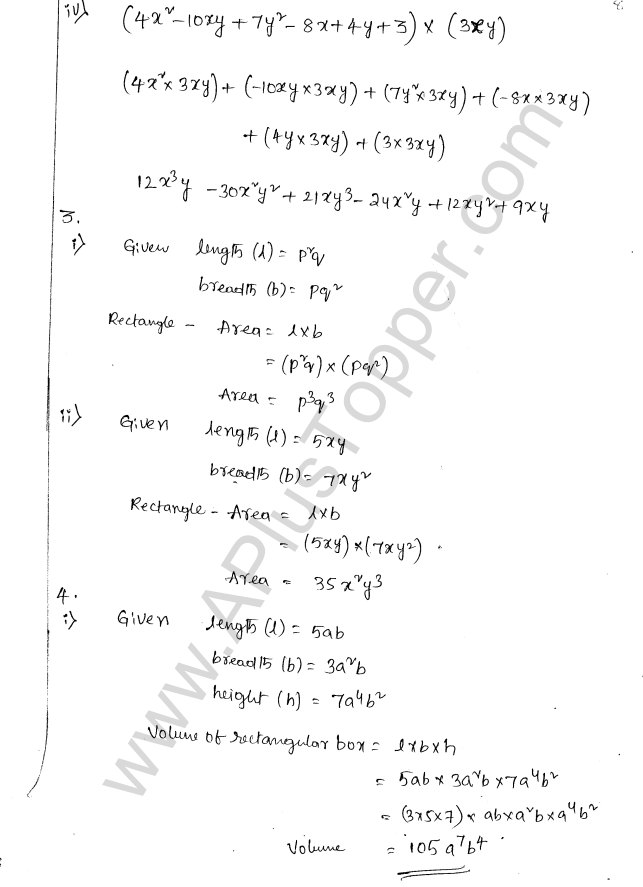 ML Aggarwal ICSE Solutions for Class 8 Maths Chapter 10 Algebraic Expressions and Identities 8