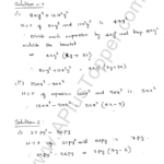 ML Aggarwal ICSE Solutions for Class 8 Maths Chapter 11 Factorisation 1