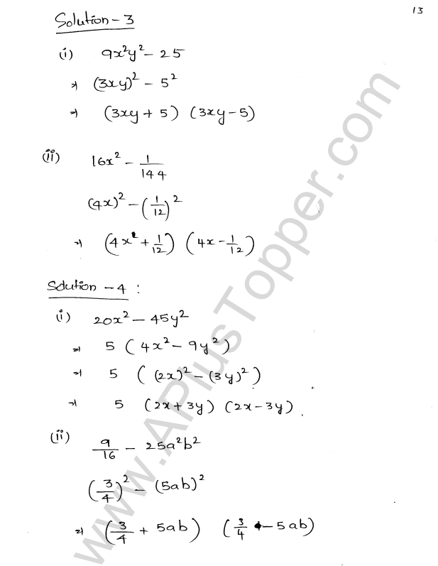 ML Aggarwal ICSE Solutions for Class 8 Maths Chapter 11 Factorisation 13