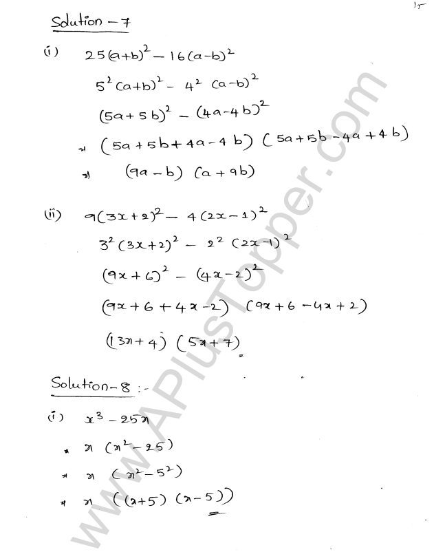 ML Aggarwal ICSE Solutions for Class 8 Maths Chapter 11 Factorisation 15