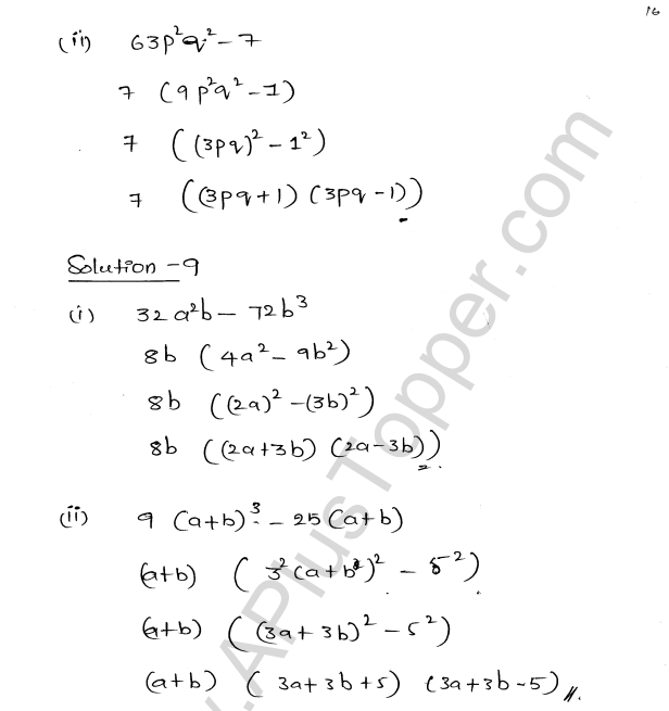 ML Aggarwal ICSE Solutions for Class 8 Maths Chapter 11 Factorisation 16
