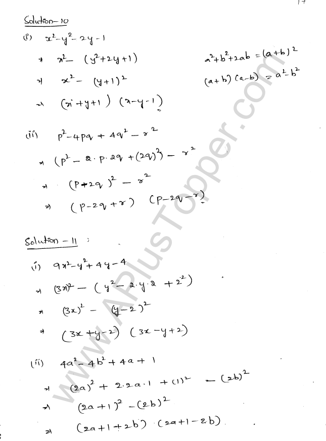 ML Aggarwal ICSE Solutions for Class 8 Maths Chapter 11 Factorisation 17