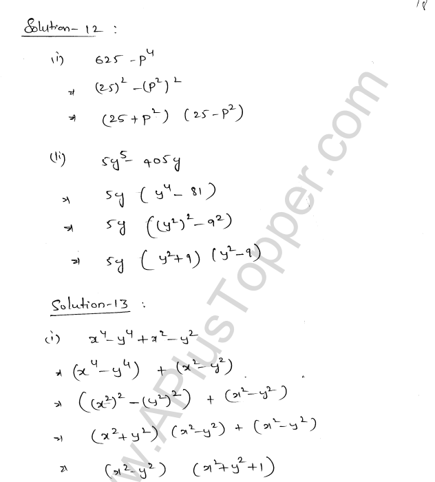 ML Aggarwal ICSE Solutions for Class 8 Maths Chapter 11 Factorisation 18