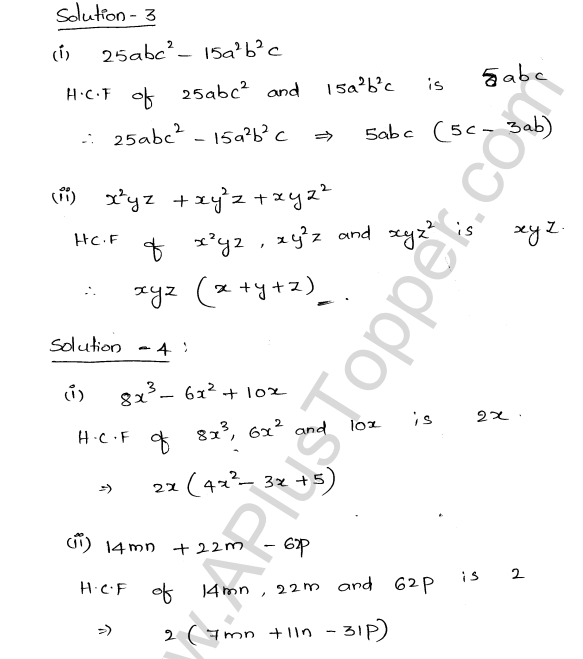 ML Aggarwal ICSE Solutions for Class 8 Maths Chapter 11 Factorisation 2
