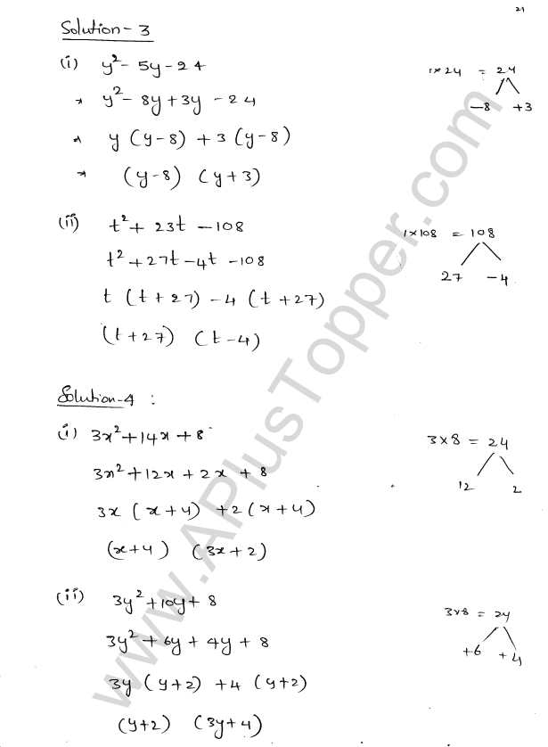 ML Aggarwal ICSE Solutions for Class 8 Maths Chapter 11 Factorisation 21