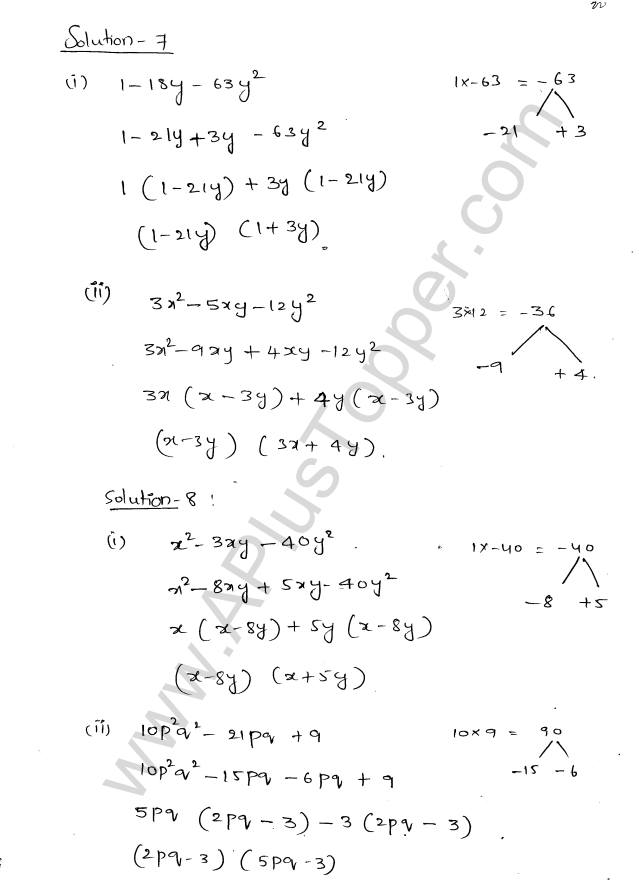 ML Aggarwal ICSE Solutions for Class 8 Maths Chapter 11 Factorisation 23