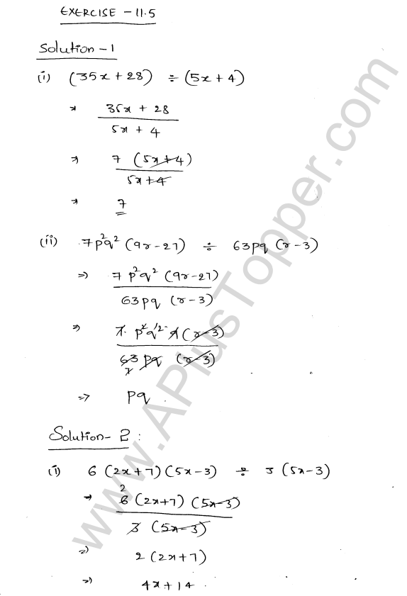 ML Aggarwal ICSE Solutions for Class 8 Maths Chapter 11 Factorisation 26