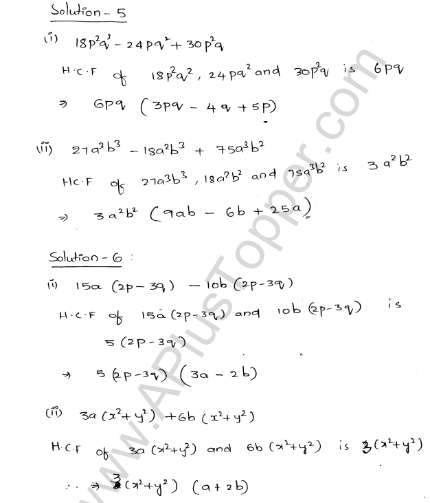 ML Aggarwal ICSE Solutions for Class 8 Maths Chapter 11 Factorisation 3