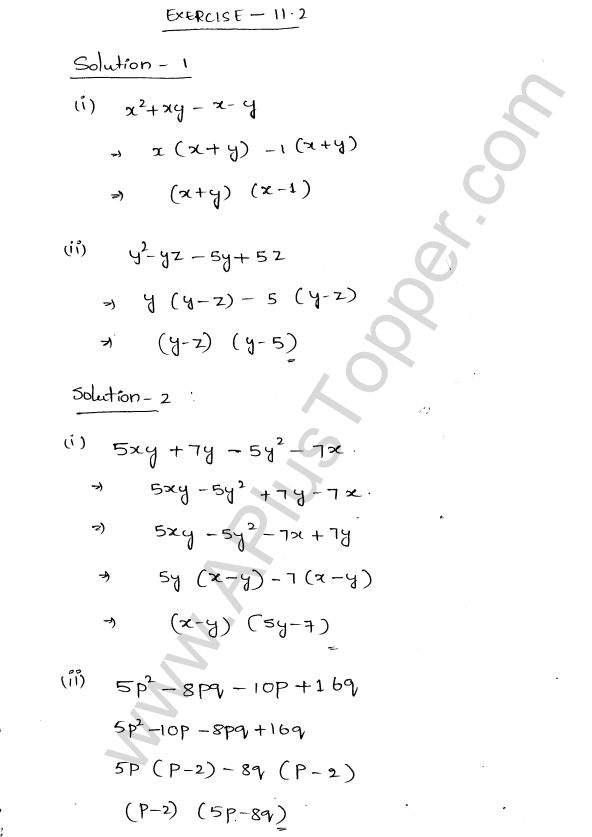 ML Aggarwal ICSE Solutions for Class 8 Maths Chapter 11 Factorisation 5