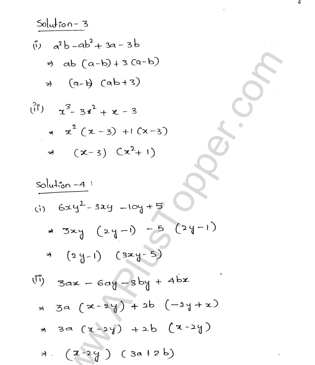 ML Aggarwal ICSE Solutions for Class 8 Maths Chapter 11 Factorisation 6