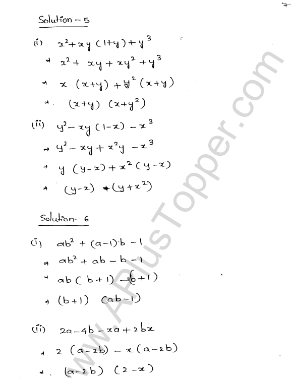 ML Aggarwal ICSE Solutions for Class 8 Maths Chapter 11 Factorisation 7