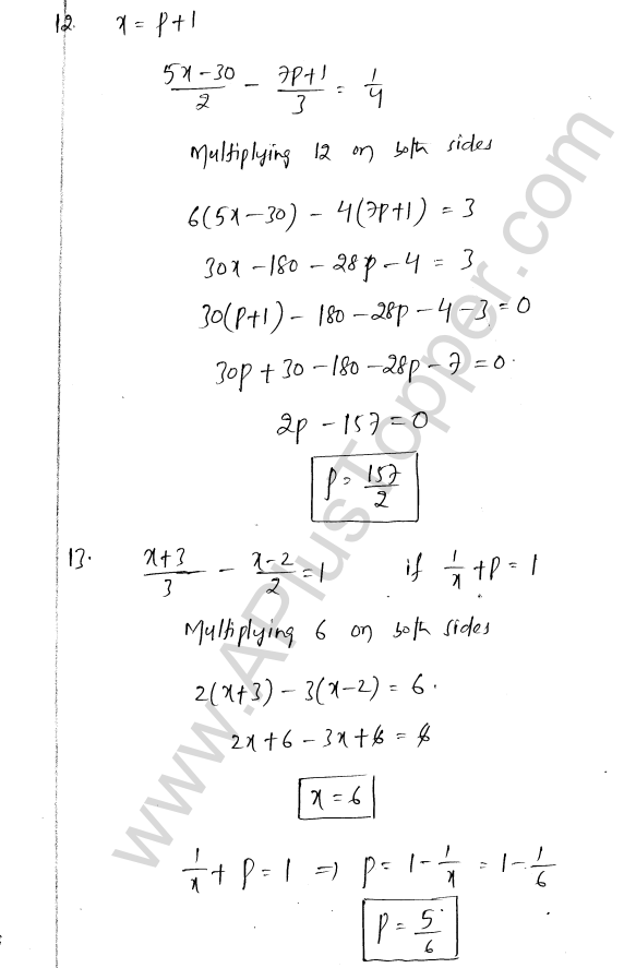 ML Aggarwal ICSE Solutions for Class 8 Maths Chapter 12 Linear Equations and Inqualities In one Variable 11
