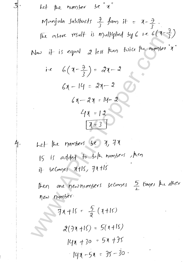 ML Aggarwal ICSE Solutions for Class 8 Maths Chapter 12 Linear Equations and Inqualities In one Variable 13
