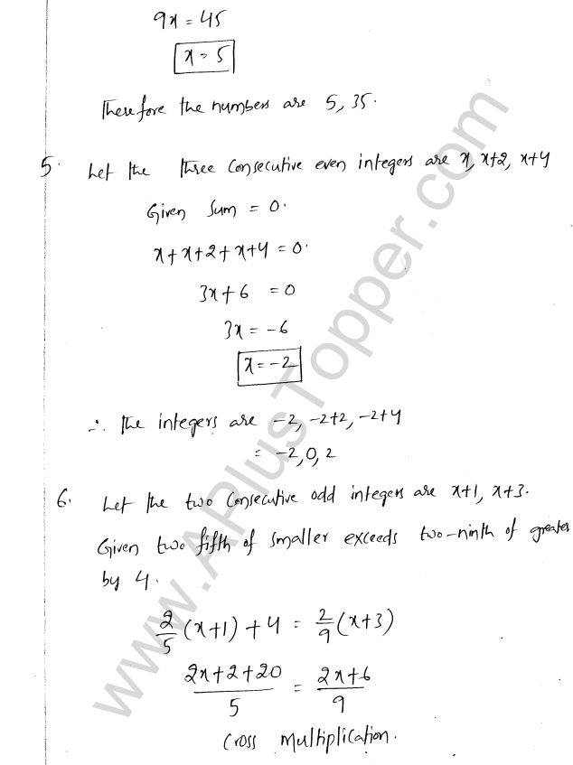 ML Aggarwal ICSE Solutions for Class 8 Maths Chapter 12 Linear Equations and Inqualities In one Variable 14