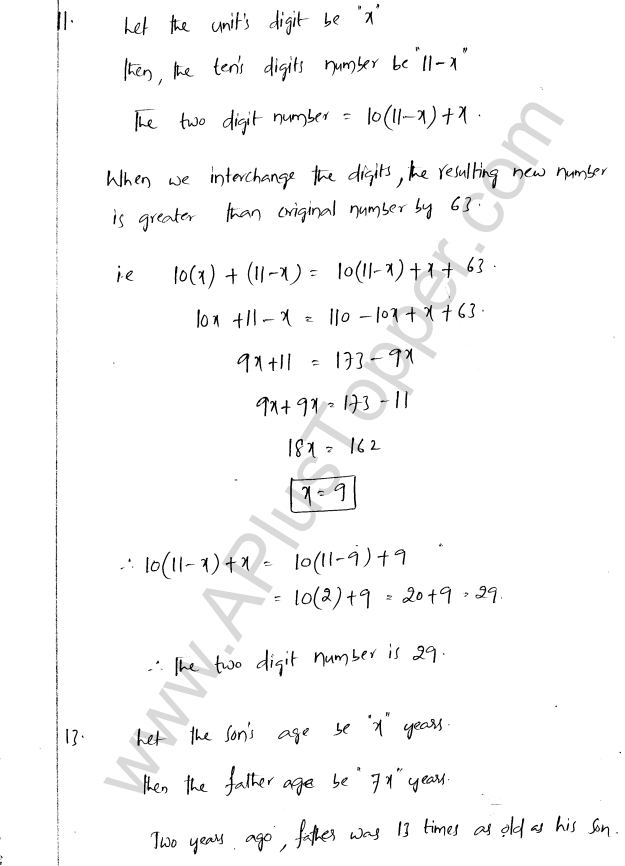 ML Aggarwal ICSE Solutions for Class 8 Maths Chapter 12 Linear Equations and Inqualities In one Variable 19
