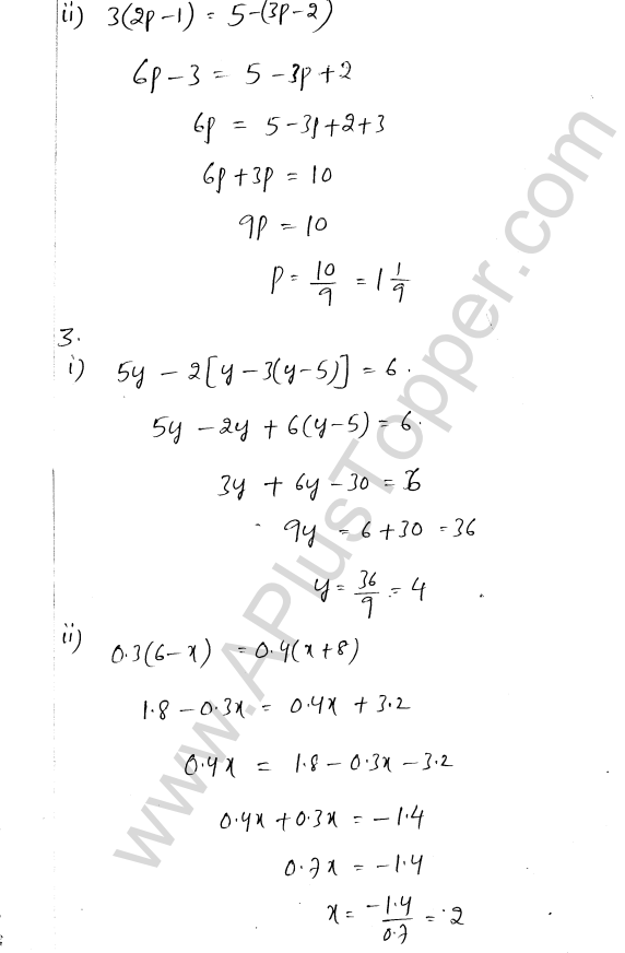 ML Aggarwal ICSE Solutions for Class 8 Maths Chapter 12 Linear Equations and Inqualities In one Variable 2