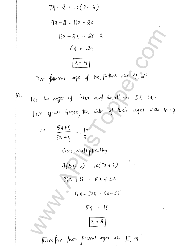 ML Aggarwal ICSE Solutions for Class 8 Maths Chapter 12 Linear Equations and Inqualities In one Variable 20