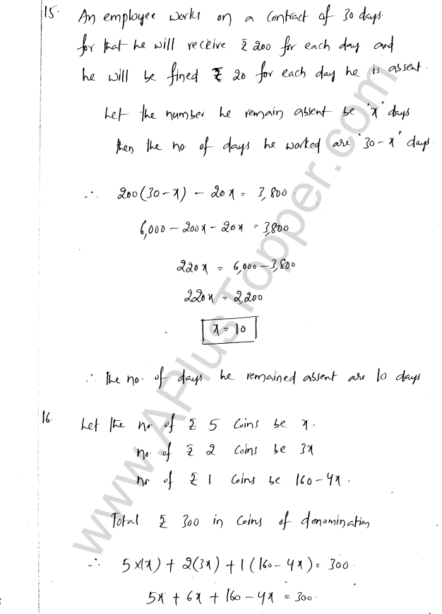 ML Aggarwal ICSE Solutions for Class 8 Maths Chapter 12 Linear Equations and Inqualities In one Variable 21