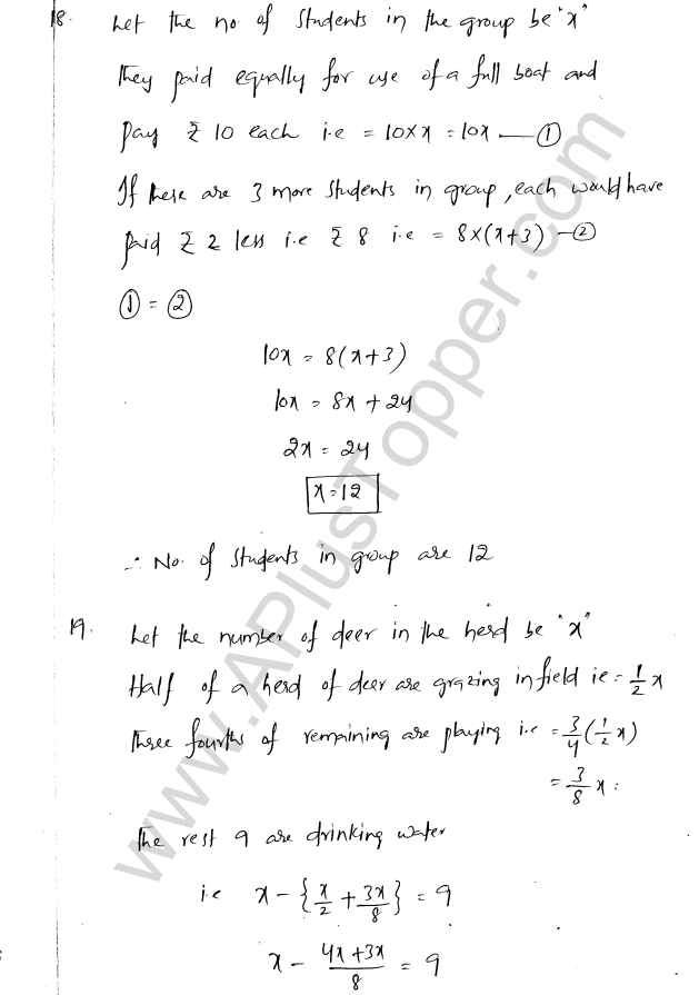 ML Aggarwal ICSE Solutions for Class 8 Maths Chapter 12 Linear Equations and Inqualities In one Variable 23