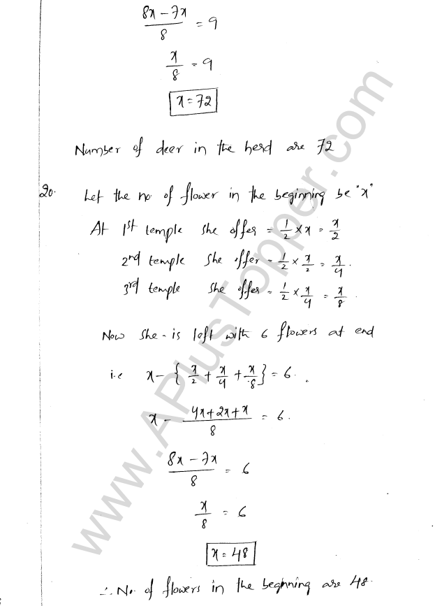 ML Aggarwal ICSE Solutions for Class 8 Maths Chapter 12 Linear Equations and Inqualities In one Variable 24