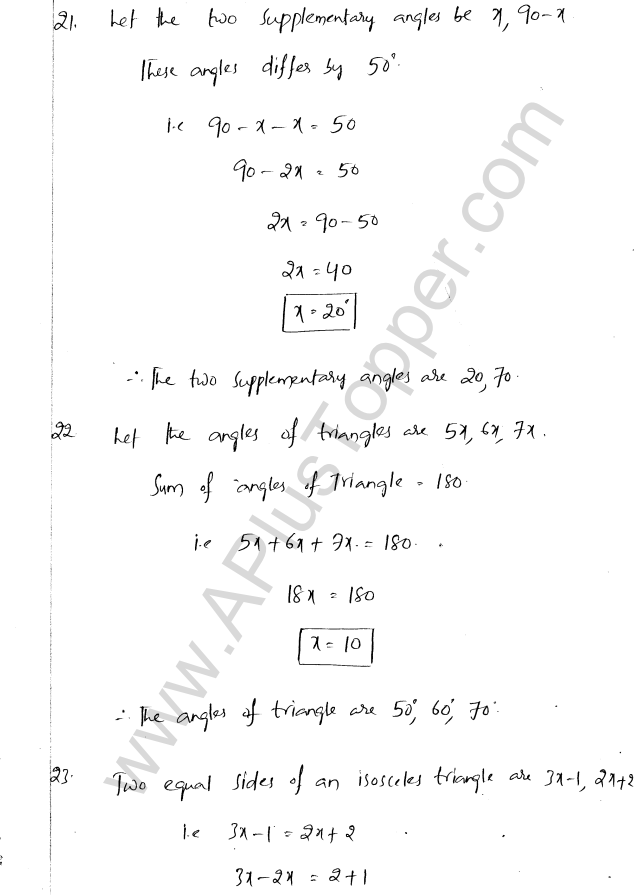 ML Aggarwal ICSE Solutions for Class 8 Maths Chapter 12 Linear Equations and Inqualities In one Variable 25