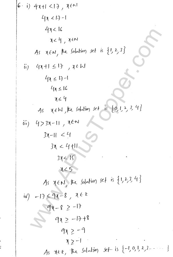 ML Aggarwal ICSE Solutions for Class 8 Maths Chapter 12 Linear Equations and Inqualities In one Variable 35