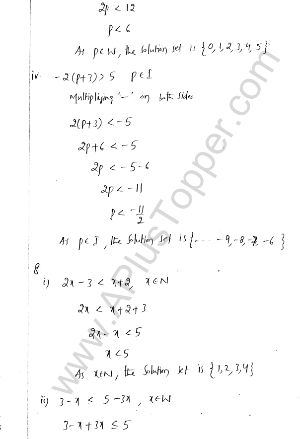 ML Aggarwal ICSE Solutions for Class 8 Maths Chapter 12 Linear Equations and Inqualities In one Variable 37
