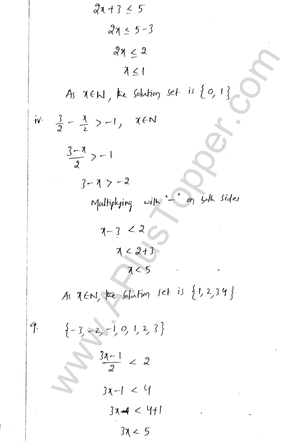 ML Aggarwal ICSE Solutions for Class 8 Maths Chapter 12 Linear Equations and Inqualities In one Variable 38