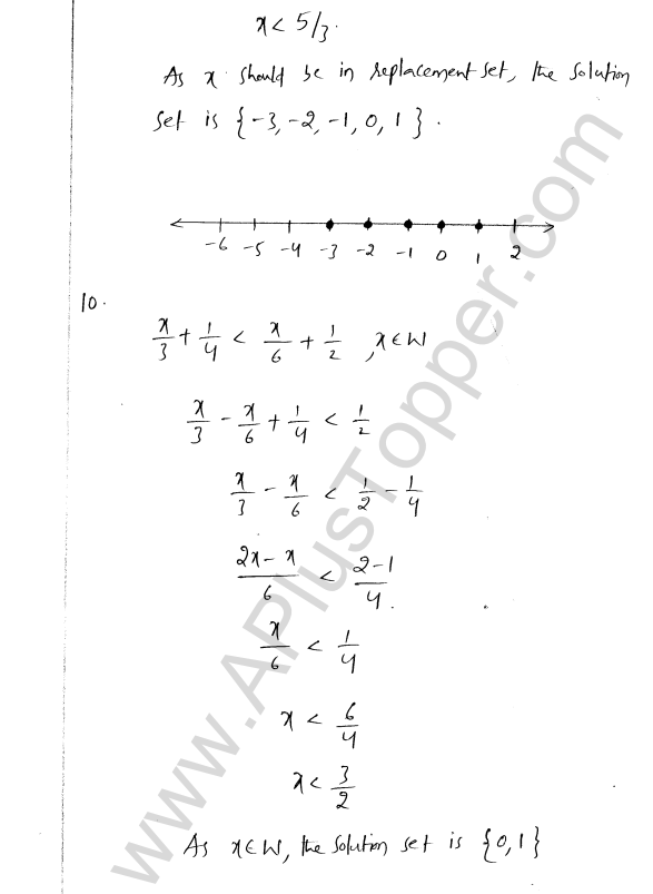 ML Aggarwal ICSE Solutions for Class 8 Maths Chapter 12 Linear Equations and Inqualities In one Variable 39