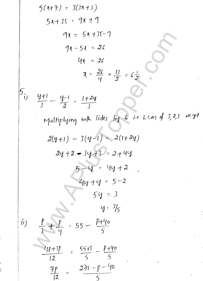 ML Aggarwal ICSE Solutions for Class 8 Maths Chapter 12 Linear Equations and Inqualities In one Variable 4