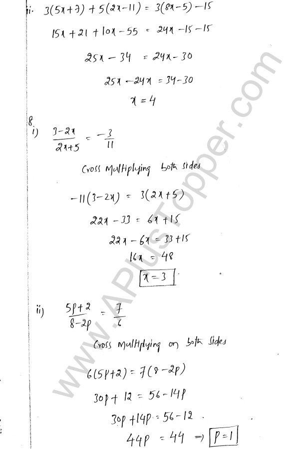 ML Aggarwal ICSE Solutions for Class 8 Maths Chapter 12 Linear Equations and Inqualities In one Variable 7