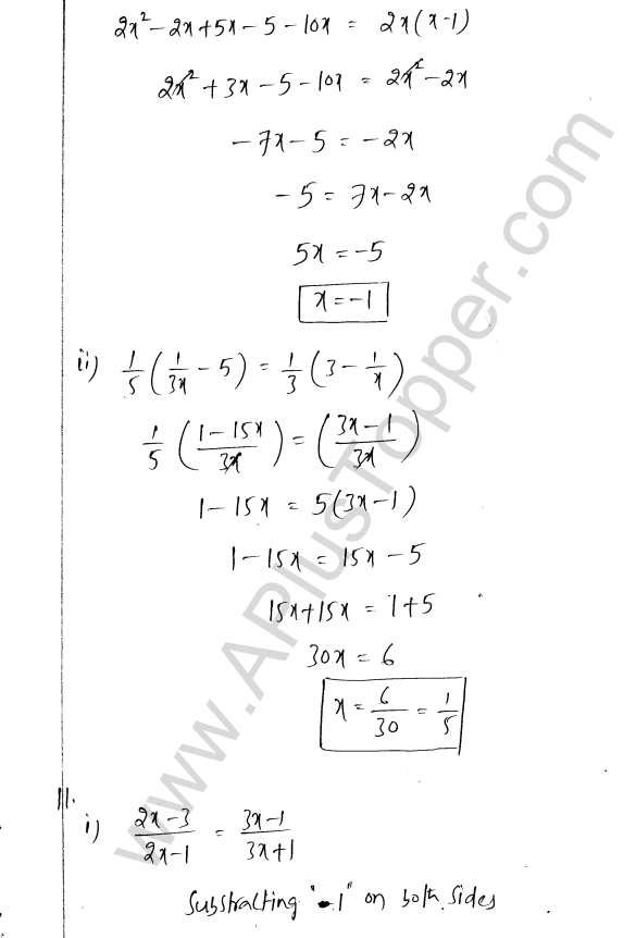ML Aggarwal ICSE Solutions for Class 8 Maths Chapter 12 Linear Equations and Inqualities In one Variable 9
