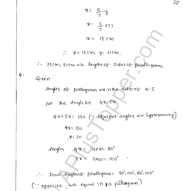 ML Aggarwal ICSE Solutions for Class 8 Maths Chapter 13 Understanding Quadrilaterals 19
