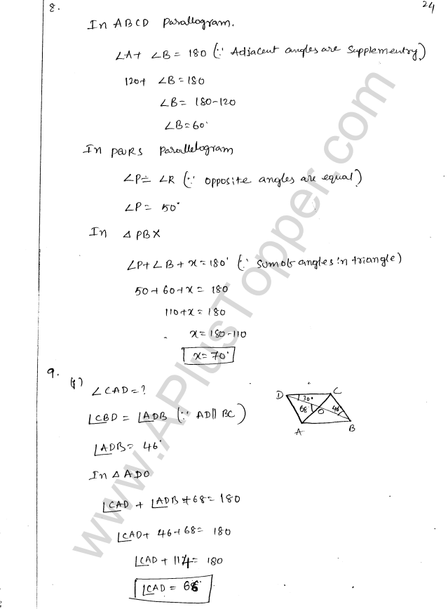 ML Aggarwal ICSE Solutions for Class 8 Maths Chapter 13 Understanding Quadrilaterals 23