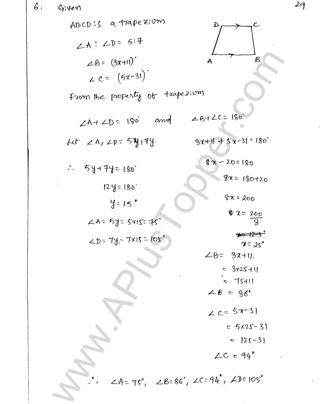 ML Aggarwal ICSE Solutions for Class 8 Maths Chapter 13 Understanding Quadrilaterals 28