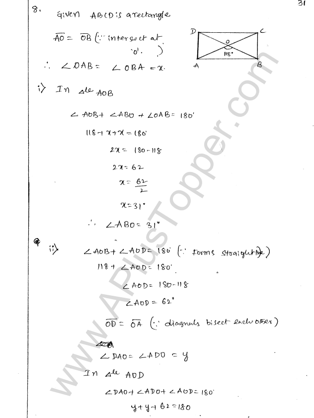 ML Aggarwal ICSE Solutions for Class 8 Maths Chapter 13 Understanding Quadrilaterals 30