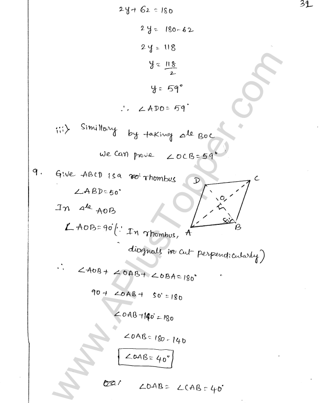 ML Aggarwal ICSE Solutions for Class 8 Maths Chapter 13 Understanding Quadrilaterals 31