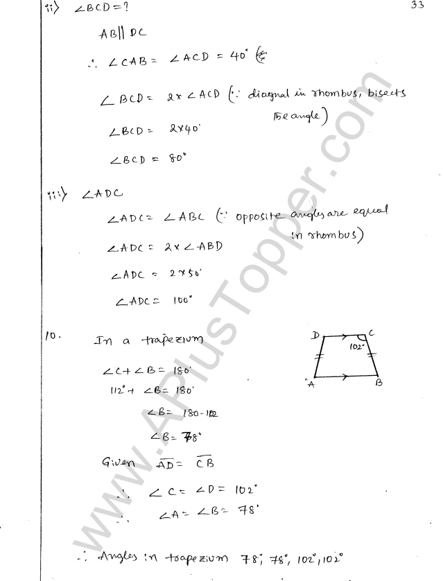 ML Aggarwal ICSE Solutions for Class 8 Maths Chapter 13 Understanding Quadrilaterals 32