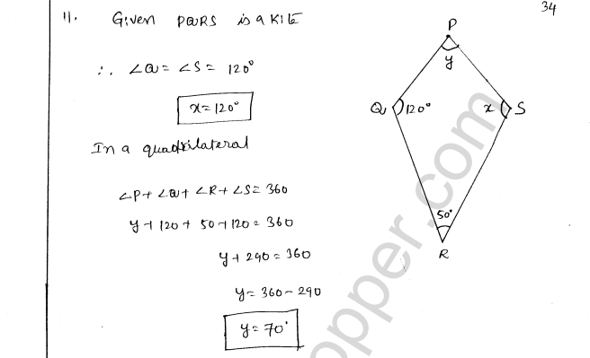 ML Aggarwal ICSE Solutions for Class 8 Maths Chapter 13 Understanding Quadrilaterals 33