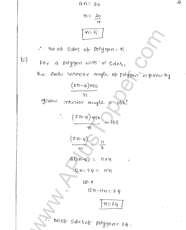 ML Aggarwal ICSE Solutions for Class 8 Maths Chapter 13 Understanding Quadrilaterals 4