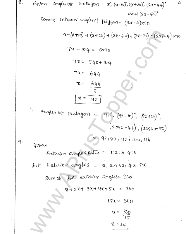 ML Aggarwal ICSE Solutions for Class 8 Maths Chapter 13 Understanding Quadrilaterals 6