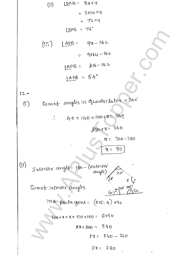 ML Aggarwal ICSE Solutions for Class 8 Maths Chapter 13 Understanding Quadrilaterals 9