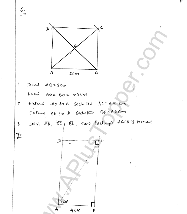 ML Aggarwal ICSE Solutions for Class 8 Maths Chapter 14 Constructions of Quadrilaterals 11