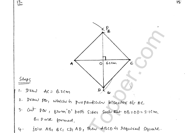 ML Aggarwal ICSE Solutions for Class 8 Maths Chapter 14 Constructions of Quadrilaterals 15