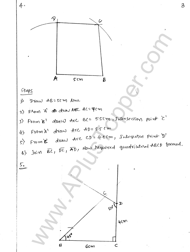 ML Aggarwal ICSE Solutions for Class 8 Maths Chapter 14 Constructions of Quadrilaterals 3