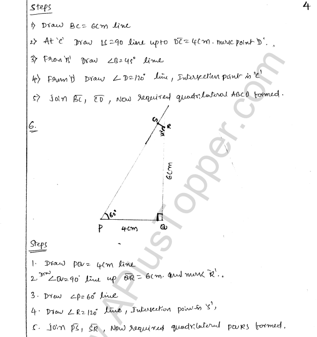 ML Aggarwal ICSE Solutions for Class 8 Maths Chapter 14 Constructions of Quadrilaterals 4