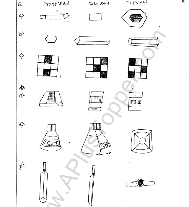ML Aggarwal ICSE Solutions for Class 8 Maths Chapter 17 Visualising Solid Shapes 3